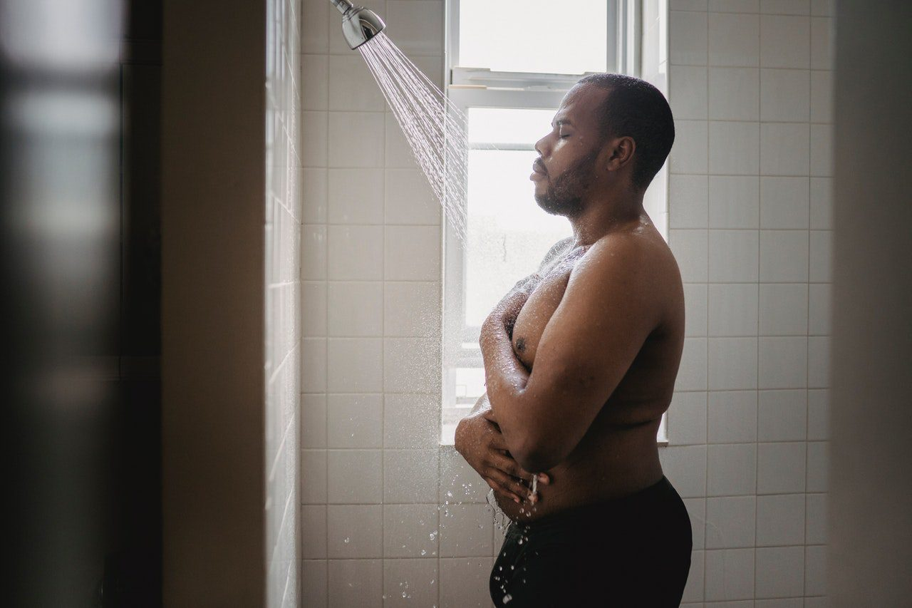 Hot showers can cause body acne.